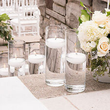 NEW 9 bulk Cylinder Vases Wedding Glass Table Centerpiece Candle Holders (7.5in)
