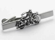 Silver Motor Bike Biker Tie Bar In Deluxe Gift Box
