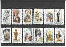 """FRANCE 2010. ART """" THE MUSIC """"CLASSIC FULL OF 12 STAMPS AUTOADHES CANCELLED"""