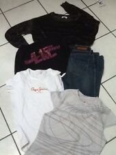 LOT FILLE 14 ANS JEAN SLIM ONLY TOP PEPE JEANS NEW BALANCE CALVIN KLEIN ARKITET