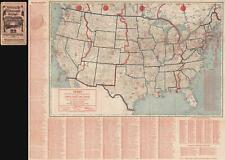 1924 Cram Radio Map of the United States and Canada