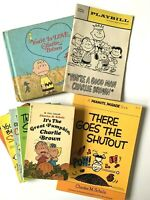 Peanuts Schulz 1968 Good Man Charlie Brown Playbill and 6 1975 Books Snoopy