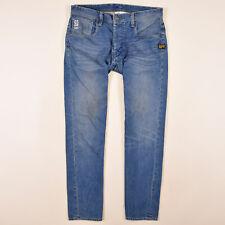 G-Star Herren Hose Freizeithose Gr.W34 Jeans Attacc Straight Blau 86491