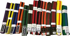 COLOURED BELTS with COLOURED STRIPE Karate, Kickboxing, MMA, Taekwondo