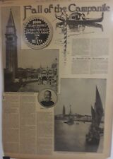 1902 Vintage Newspaper Fall of the Campanile Venice-Gloverville-Nobleman Tramp