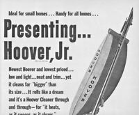 1948 Hoover Jr. Vacuum Cleaner Vintage Print Ad Ideal For Small Homes