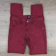 Hudson Slim Fit Maroon Women's Jeans Size 28 Actual W30 L32 (GG18)