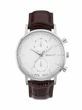 Gant Mens Watch Park Hill W11201 Analogue Multifunctional Leather Brown
