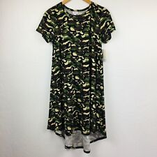 47bf62c792a72 NWT LULAROE CAMO Camouflage CARLY DRESS UNICORN RARE HTF Swing Small