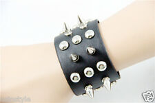 New Punk Rock Gothic Style Cosplay Leather Bracelet w/Rivet Studs Wristband Hot