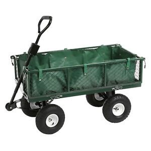 Heavy Duty Steel 350kg Waterproof Festival Cart Camping Truck Garden Trolley