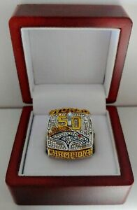 Peyton Manning - 2015 Denver Broncos Super Bowl Custom Ring With Wooden Box