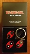 Deadpool Corps Club Merc Loot Crate Exclusive Ring Napkin Holder Set of 4