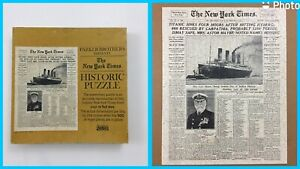 VTG 1967 New York Times Sinking of The TITANIC Newspaper Headline Jigsaw Puzzle