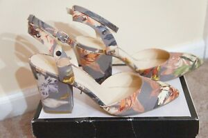 Lovely Nine West Multi Color Block Heels - Size 12 New in Box