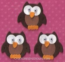DIE CUT - 3 X GOGGLY EYED OWL (KITS)