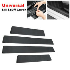 4PC Carbon Fiber Car Door Plate Sill Scuff Cover Front Rear Anti Scratch Sticker