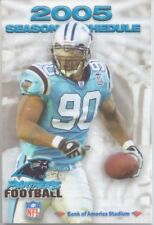 2005 CAROLINA PANTHERS FOOTBALL POCKET SCHEDULE NFL Julius Peppers
