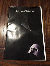 Paul Stanley (KISS) Phantom of the Opera Official Playbill