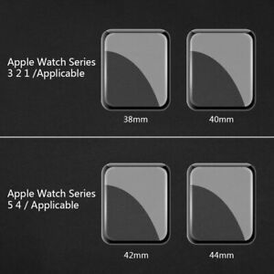 TPU Full Cover Tempered Glass Screen Protector For Apple Watch Series 1 2 3 4 5