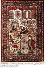 Persian Rug-Rare Museum Quality Pre-Revelution Qum silk rug for wall hanging