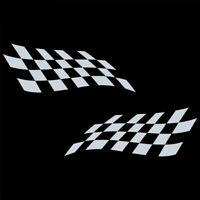 Rennflagge Aufkleber Racing Flag Flaggen Rennsport Flags Weiß Auto Motorrad