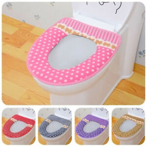 5 Color Seat Warm Mat Cover Pad Cushion Washable Bathroom Closestool Toilet Seat