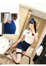 Completo Costume Airline Sexy Uniforme Hostess Assistente Volo Flight Lingerie