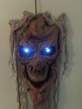4FT Halloween Party/Prop Talking Tree Head/Ghost/White Eyes/Lights/Window/sound