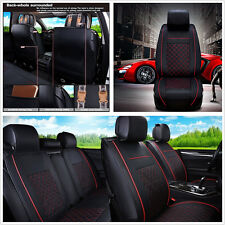 M Size Deluxe Edition PU Leather 5-Seat Car Off-Road Seat Cover Cushion Pillow