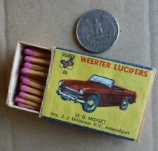 old filled matchbox   CLASSIC CAR  brand    MG  MIDGET   (15b)