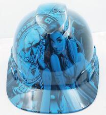 Hard Hat custom hydro dipped , OSHA approved , NEW BLUE BAD BONES CLUB