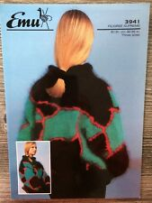 """Emu Knitting Pattern: Ladies Mohair Sweater, 32-36"""", 3941"""