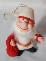 Vintage 1950s Christmas Plastic Elf tree ornament. Sweet Santa's helper
