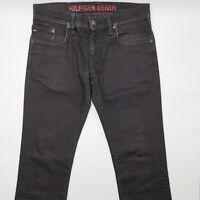 Tommy Hilfiger Scanton Coated W32 L34 schwarz Herren Designer Denim Jeans Hose