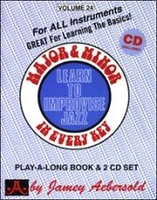 Aebersold 024 principali e secondarie libro / cd *