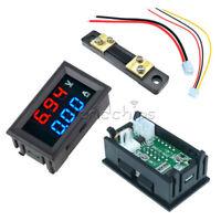 DC 10A 100V LCD Blue&Red Amp Volt Meter Voltmeter Ammeter Current Shunt Resistor