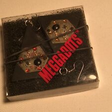 STAR WARS digital flashing BLACK EARRINGS: Meggadots. RARE and collectible.