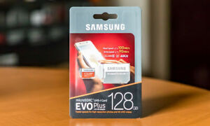 SAMSUNG EVO Plus 128GB MicroSD Micro SDXC Class10 Flash Memory Card w/SD Adapter