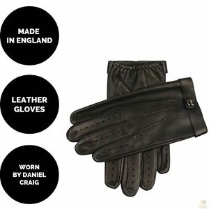 Dents Men's Unlined Leather Driving Gloves Made In England Daniel Craig Fleming
