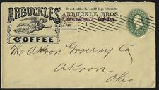 US 1910 ARBUCKLES COFFEE ADVERTISING COVER CLEVELAND TO AKRON OHIO