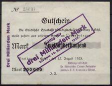 [15750] - Notgeld FREIBURG i. SCHLESIEN (heute: Świebodzice), AG für Schlesische
