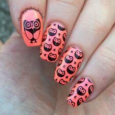 Nail Art Stamping Template Cute Owls DIY Image Plate Stamper Scraper Kit BP 54