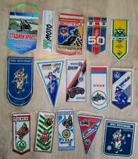 15 old pennants. Soviet Motorcycles IMZ Ural Irbit, Dnieper Kiev and others