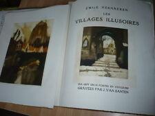 VERHAEREN Les Villages Illusoires. Dix-sept eaux-fortes SANTEN 1929 NUMEROTE