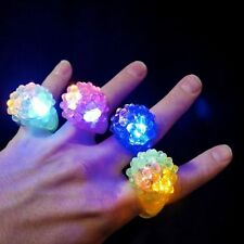 ANELLO A LED LUMINOSO GADGET FESTA PARTY DISCO DISCOTECA LUCE