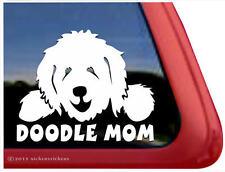 DOODLE MOM ~ Goldendoodle Labaradoodle Vinyl Dog Window Decal Sticker