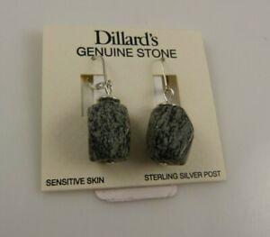 Sterling Silver Dillards Genuine stone wire earring earrings .925 xmas