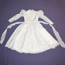 White Beads at Children Dress 134 Flower Girl Communion Gala Dress