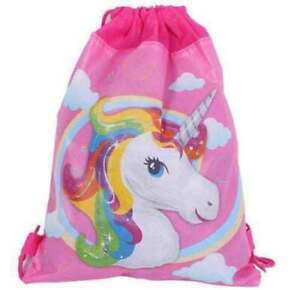 Unicorn Kids PE Swim Drawstring Bag Girls Flying Horse School Gym Backpack New